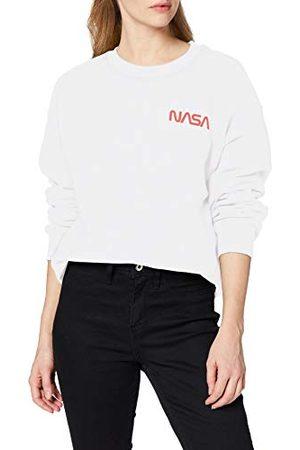 Brands In Limited Dames Nasa Modern Logo Pocket Sweatshirt