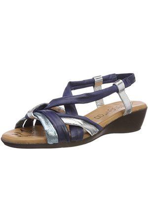 Andrea Conti 0145710, open sandalen met sleehak dames 38 EU