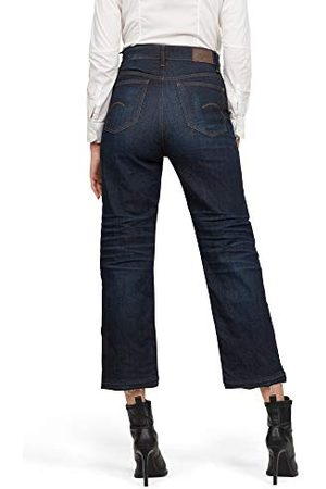 G-Star Dames Straight Jeans Tedie Ultra High Waist Straight Ripped Ankle C