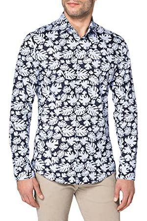 Seidensticker Heren Slim Poplin Shirt met lange mouwen