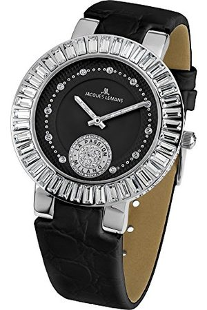 Jacques Lemans Dames analoog kwarts horloge met lederen armband 1-1683A
