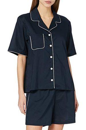 Seidensticker Zijdesticker dames popeline doorgeknopen pyjama korte pyjamaset