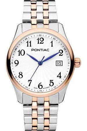 Pontiac Dames analoog Zwitsers Quartz horloge met roestvrij stalen band P10054