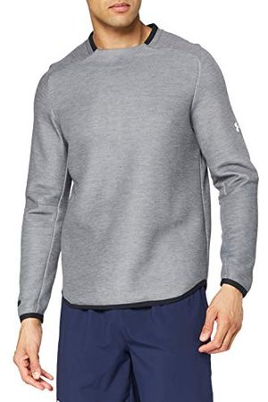 Under Armour Heren Unstoppable Move Crew Warm-up Top, Licht Heather/Onyx (001), X-Large