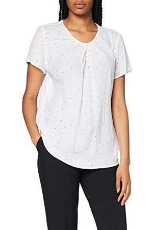 Seidensticker Damesblouse met korte mouwen, gestippelde blouse, modieuze blouse