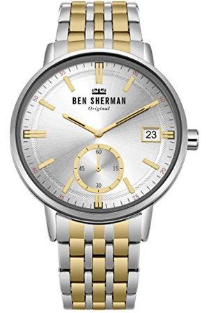 Ben Sherman Datum klassiek kwartshorloge met roestvrij stalen armband WB071GSM