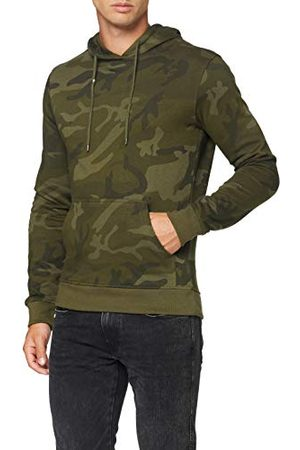 Build Your Brand Heren capuchontrui Camo Hoody Hooded Sweatshirt voor mannen verkrijgbaar in 2 camouflage-varianten, maten S - 5XL