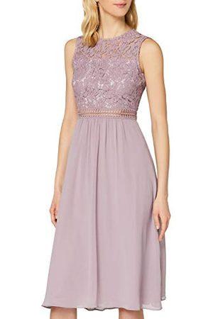 TRUTH & FABLE Amazon-merk - Maxi Chiffon jurk voor dames, (Qual Lila), 16, Label:XL