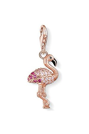 Thomas Sabo Dames-bedelhanger Flamingo Charm Club 925 sterling 1518-384-9