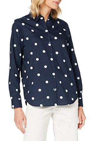 Seidensticker Damesblouse – Fashion Blouse – lichte hemdblouse met hemdblouse-kraag – Regular Fit – lange mouwen – 100% katoen