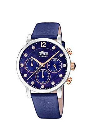 Lotus Dames chronograaf kwarts horloge met lederen armband 18674/5