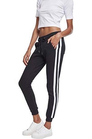 Urban classics Dames Ladies College Contrast Sweatpants broek,Mehrfarbig (Black/White/Black 01293),30W (Fabrikant maat:XL)