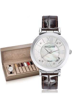 Saint Honore Dames analoog kwarts horloge met lederen armband 7664611YRDN