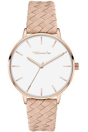 Tamaris Dames analoog kwarts horloge met lederen armband TT-0009-LQ