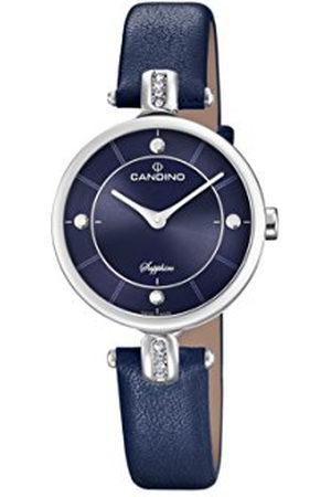 Candino Womens Analoog Klassiek Quartz Horloge met Lederen Band C4658/3