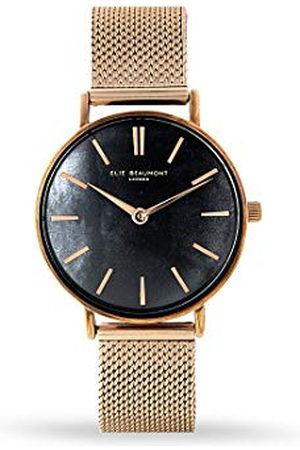 Elie Beaumont Analoge Japanse Quartz Horloge voor dames met RVS Band EB825.3