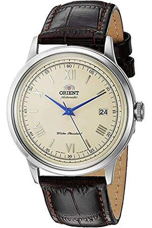 Orient Unisex volwassene analoog automatisch horloge met lederen armband FAC00009N0