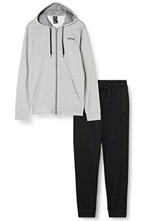 adidas Heren Hooded Tracksuit Linear French Terry Trainingspak, Mgreyh/ , S