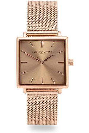 Elie Beaumont Analoog voor dames Japanse Quartz Horloge met RVS Band EB818.9