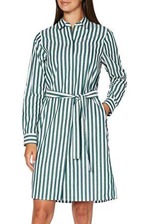 Seidensticker Midi blousejurk voor dames, gemakkelijk te strijken blousejurk met hemdblousekraag, regular fit, lange mouwen