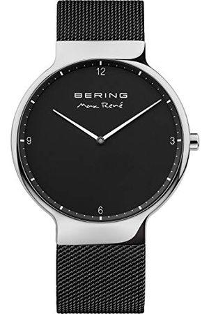 Bering Heren analoog kwartshorloge met roestvrij stalen armband 15540-102
