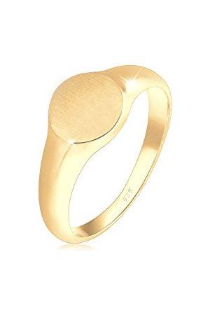Elli Dames Ringen - Ringen zegelring royal mat geo basic trend 925 zilver