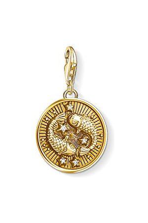 Thomas Sabo Charm Club 1651-414-39 Bedelhanger voor dames en heren, 925 sterling zilver, verguld