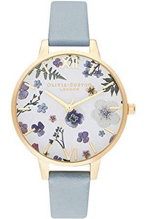 Olivia Burton Dames Horloges - Dames analoog kwarts horloge met kunstleren armband OB16AR08