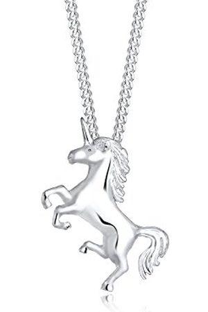 Elli Dames Kettingen - Halsketting Einhorn Unicorn Magic 925 Sterling Silber