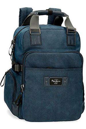 Pepe Jeans Vivac schoudertas blauw 12x15x3,5 cm katoen en PU