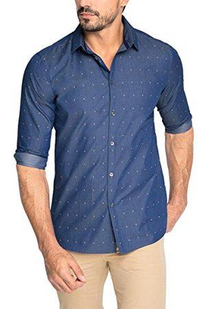 Esprit Heren Lange mouw - Collection Dobby Tw met lange mouwen Regular Fit formeel shirt voor heren