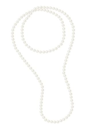 Pearls & Colors Sautoir halsketting - AM17-SC-R89-WH-120