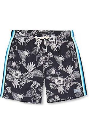Scotch&Soda Heren Zwembroeken - Bedrukte zwemshorts met zijdelingse tapes shorts