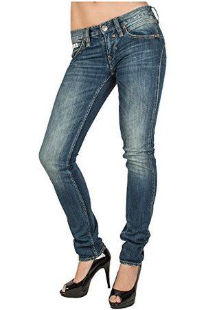 Herrlicher Dames Slim - Prachtige damesjeans 5630 D9900 Touch Denim Stretch Skinny/Slim Fit (groen) normale band (meer kleuren)