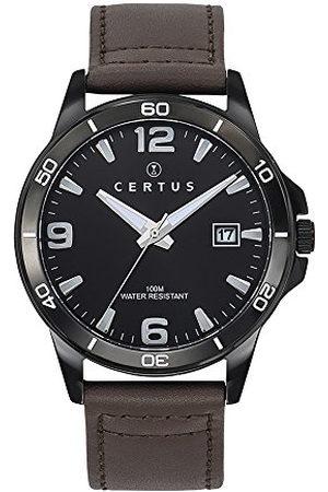 Certus Herenhorloge, analoog, kwarts, met leren armband 611099
