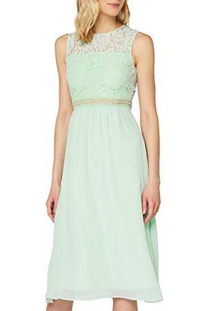 TRUTH & FABLE Amazon-merk - Maxi Chiffon jurk voor dames, (Celadon ), 12, Label:M