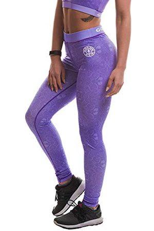 Golds gym UK GGLPNT048 Dames Workout Training Bloemenprint Compressie Hoge Taille Leggings, Lila, 2X-Small