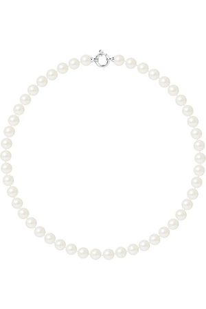 Pearls & Colors Collier - AM17-COL-AG-R89-AML-WH