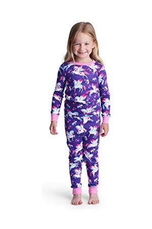 Hatley Meisjespyjamaset van organisch katoen, lange mouwen, tweedelige pyjama.