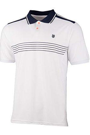 K-Swiss KS TAC Hypercourt Stripe Tennispolo, heren, /marineblauw, L