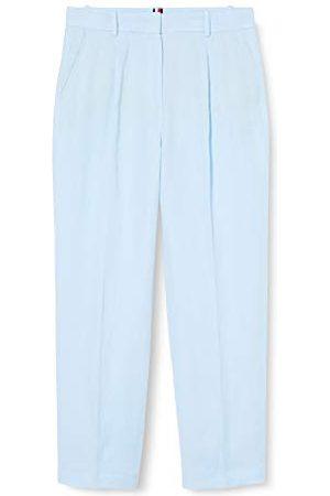 Tommy Hilfiger Dames Jeans - Dames linnen tencel taps toelopende broek rechte jeans