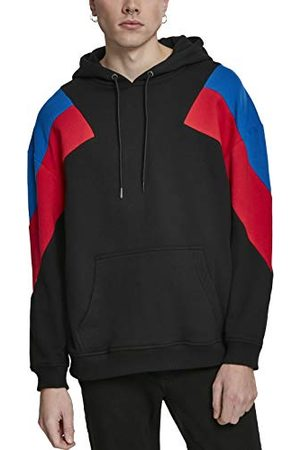 Urban classics Heren capuchontrui Retro Color-Bocking Oversize 3-kleurige hoodie