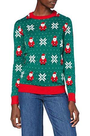 Urban classics Dames Dames Santa Christmas Sweater Kersttrui voor vrouwen, maten XS-5XL