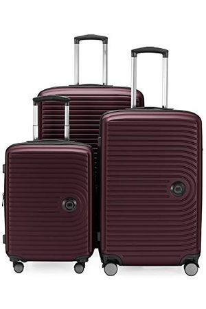 Hauptstadtkoffer Koffers - MITTE - hard shell Koffer Trolley, Ingecheckte bagage uitbreidbaar, TSA, 68 cm, 88 L, burgundy