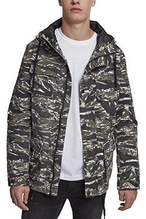 Urban classics Middellange katoenen jas in camouflage-look.