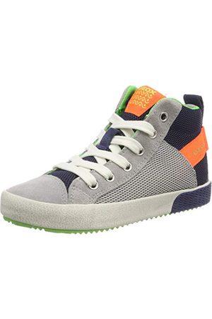 Geox Hoge sneakers voor jongens J Alonisso Boy H, Fluo Orange C1040, 32 EU