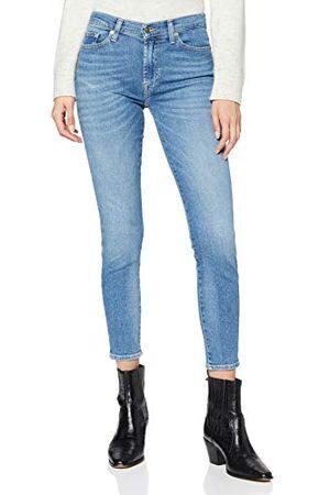 7 for all Mankind Hw Skinny Crop Jeans voor dames.