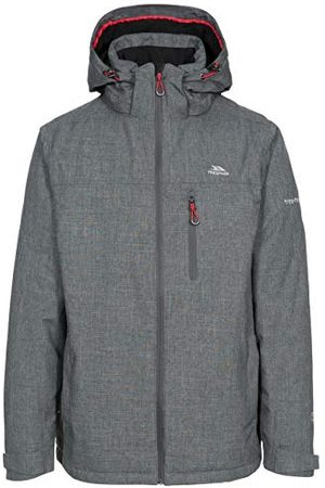 Trespass Heren Outdoorjassen - Heren Fyfinn Waterdichte gewatteerde jas, donkergrijs, M, Grigio Scuro, M