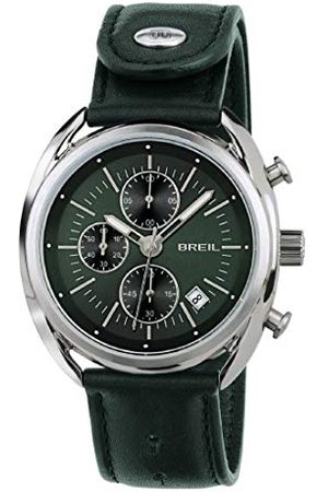 Breil Heren chronograaf kwarts horloge met lederen armband TW1515