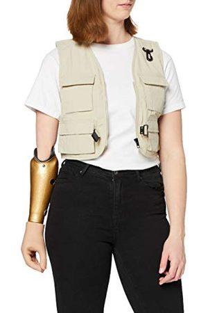 Urban classics Dames Bodywarmers - Damesvest Dames Short Tactical Vest, mouwloos damesjack met veel opgestikte zakken in 2 kleuren, maten XS - 5XL